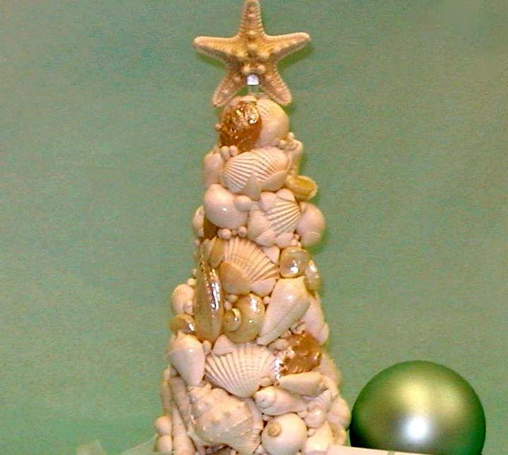 Ракушки для изготовления новогодней елки