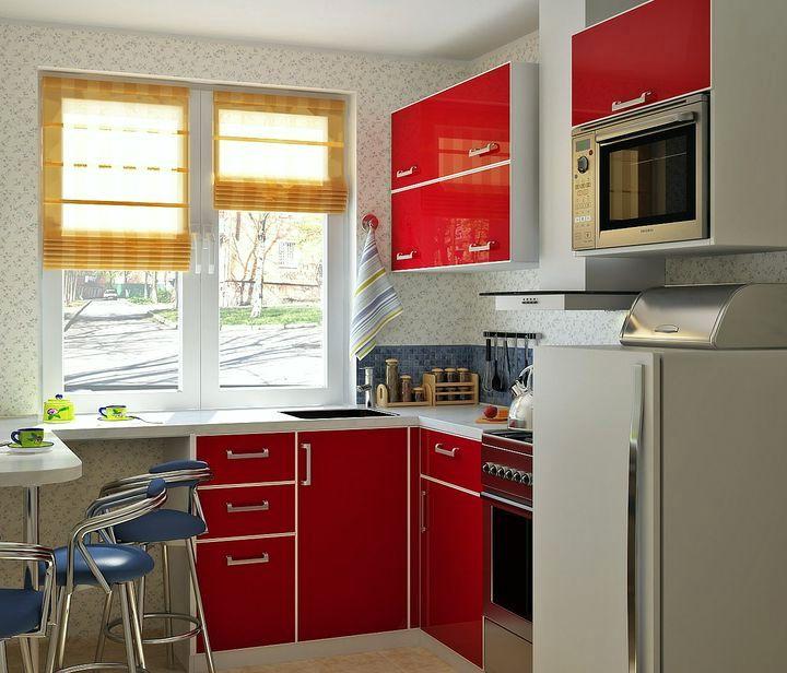 Современный дизайн малогабаритной кухни