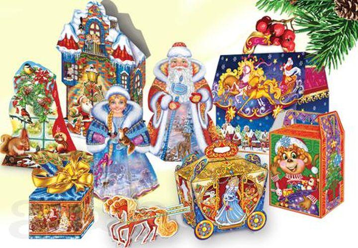 Разнообразие новогодних упаковок