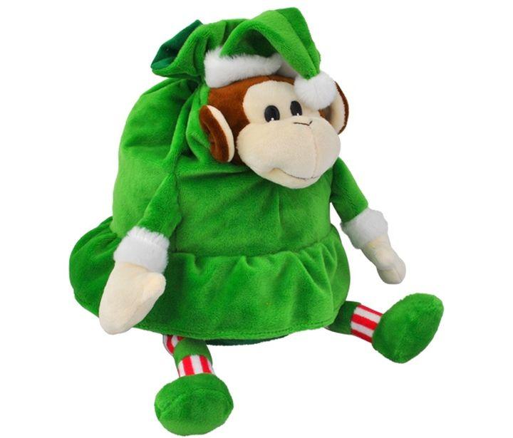 Новогодняя упаковка для подарка в виде обезьянки