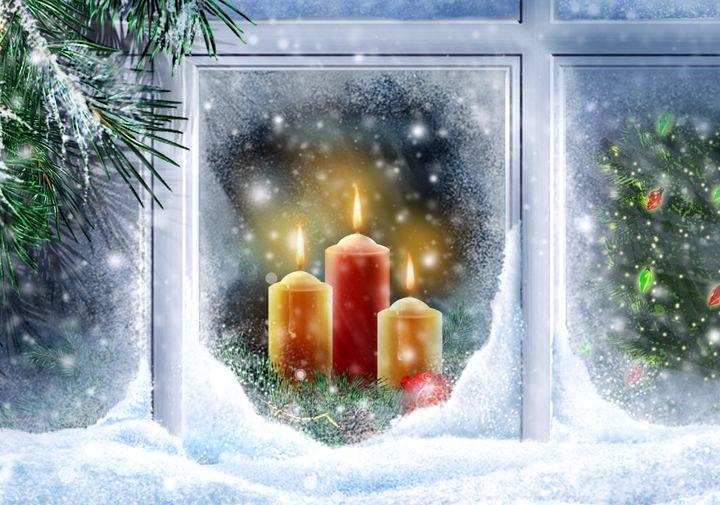 Рисунки на стекле для новогоднего оформления окон