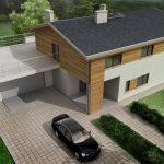 Проект дома с гаражом-терассой