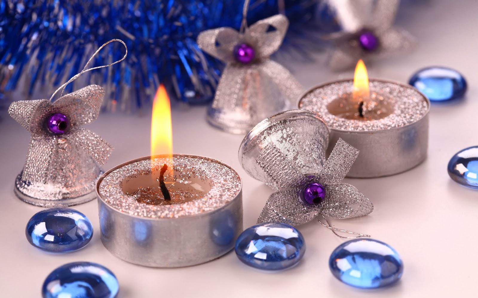 Декор свечи на новый год своими руками