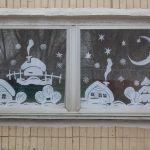 Фото 48: Бумажное оформление окна