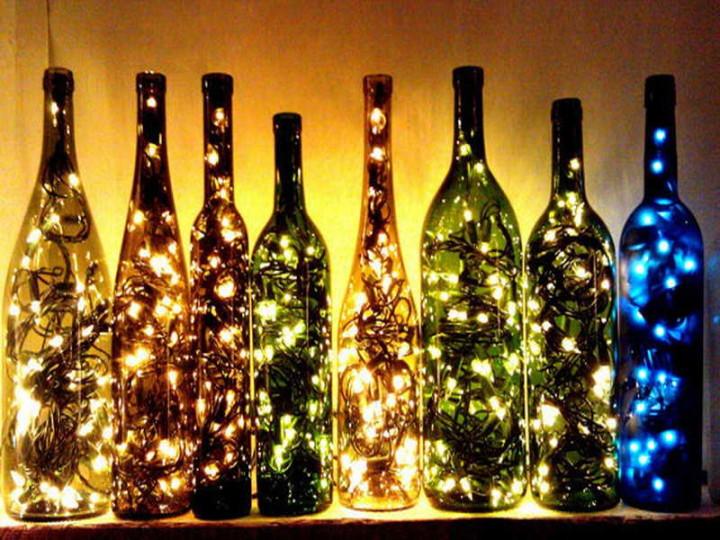 Современный светильник из бутылки своими руками