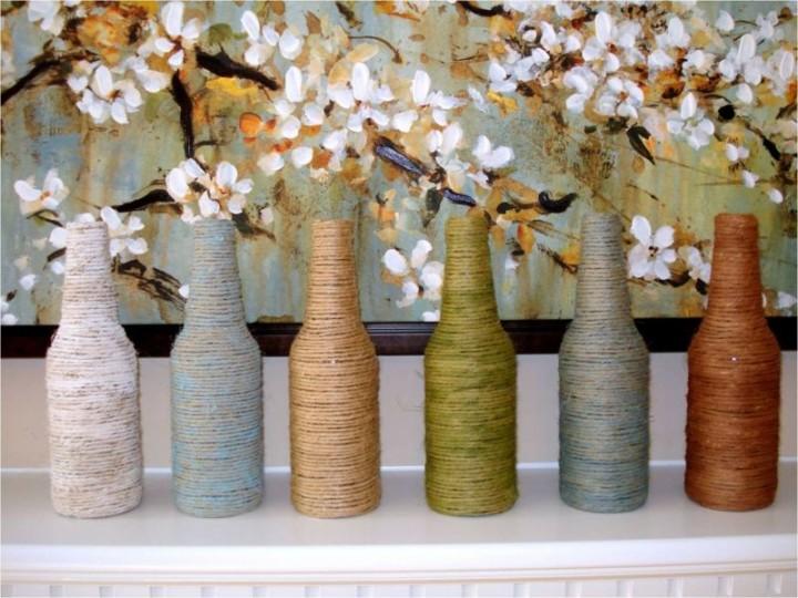 Оригинальные вазы с обвязкой