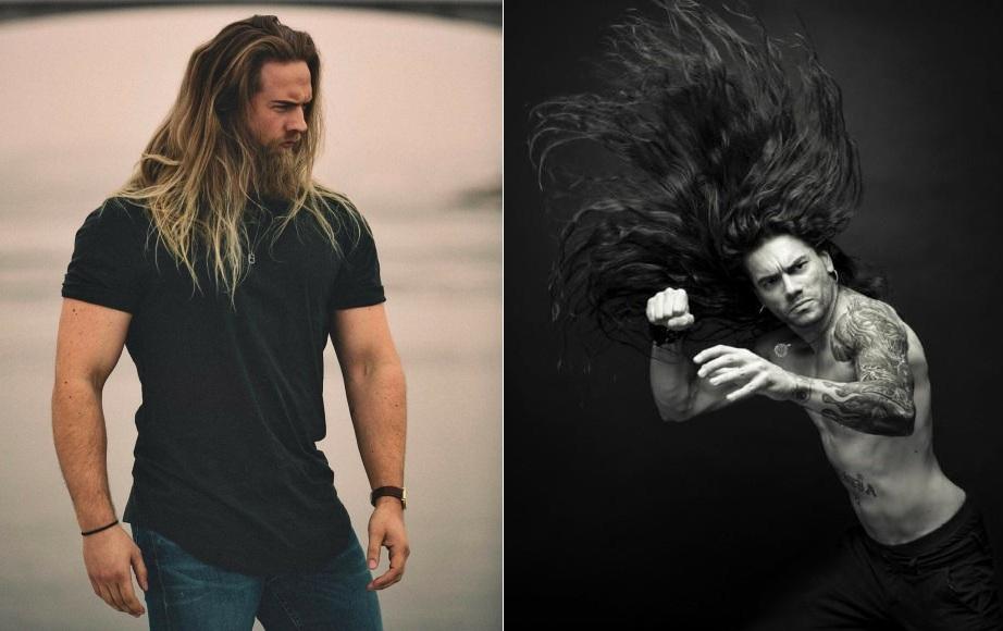 Длинные мужские волосы