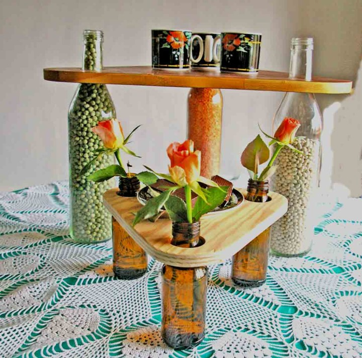 Интересные декоративные элементы из бутылок своими руками