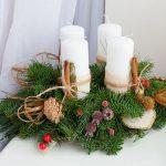 Фото 41: Хвойные композиции со свечами
