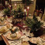 Фото 33: Рождественские икебаны на столе