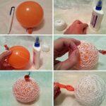 Фото 68: Изготовление новогоднего шара из ниток