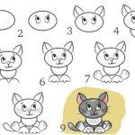 Фото 35: простой милый котик поэтапно