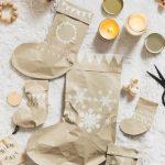 Фото 41: Сапожки из бумаги новогодние