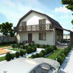 Фото 42: Проект дома с балконом