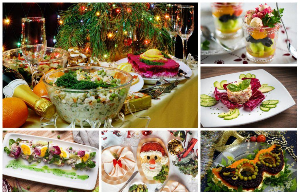 Новогодняя подача блюд