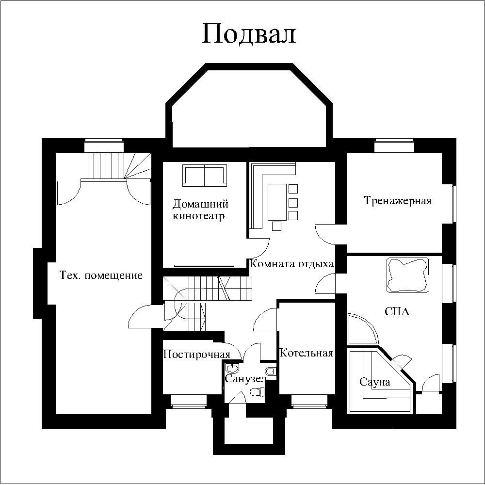 Возможные помещения для жилого подвала