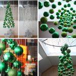 Фото 50: Подвесные елочки из шариков