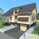 Проект дома с гаражом в подвале