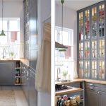 Фото 72: Серая маленькая кухня