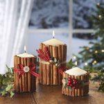Фото 35: Украшение свечей коричными палочками