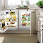 Фото 76: Встроенный в столешницу маленький холодильник