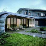 Необычный дом из оцилиндрованного бревна