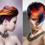 Фото 29: Разноцветные стрижки пикси