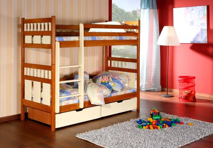 двухярусная кровать с ящиками для белья 2