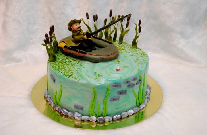 торт для рыболова