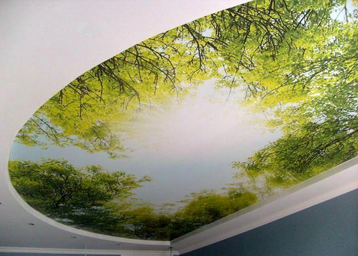 3D рисунок на поверхности потолка