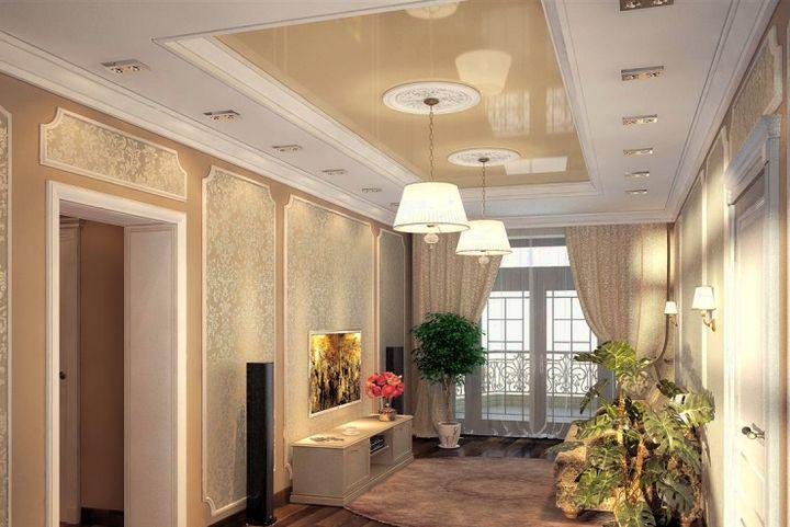 Эффектный комбинированный потолок