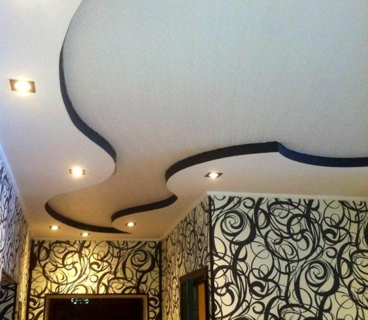 Рельефная форма потолка для коридора