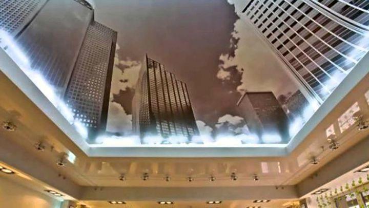 Объмный принт потолка