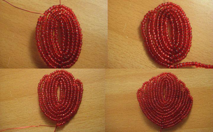 Плетение лепестков гибискус 2