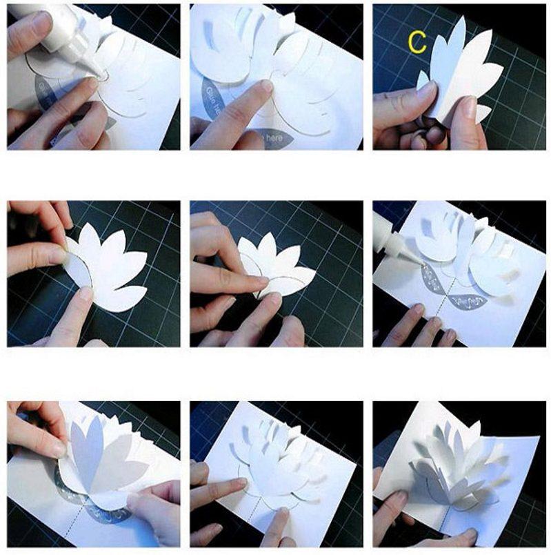 Изготовление объемной открытки с цветком
