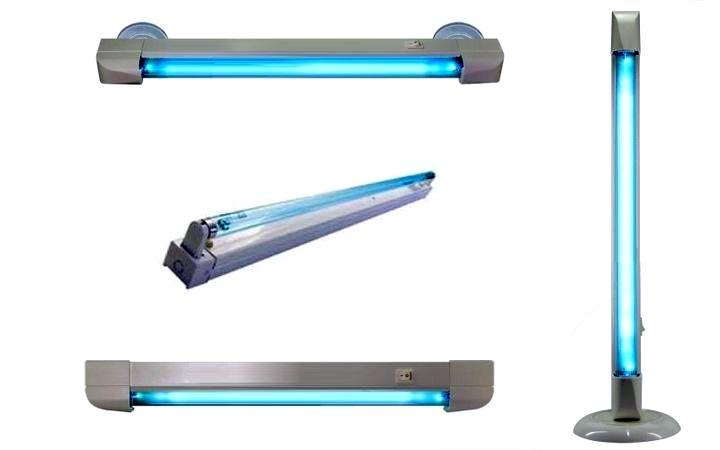 Различные способы размещения кварцевых ламп