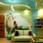 Фото 56: Многоуровневый натяжной потолок в детской