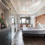 Фото 60: Натяжной потолок для спальни в стиле лофт