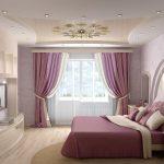 Фото 61: Комбинированный натяжной потолок для сспальни