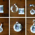Фото 51: Процесс украшения новогоднего шара фотографиями