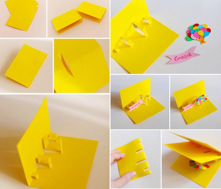 Как сделать объёмную открытку на День рождения своими руками?