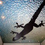Фото 67: Натяжной потолок для ванной
