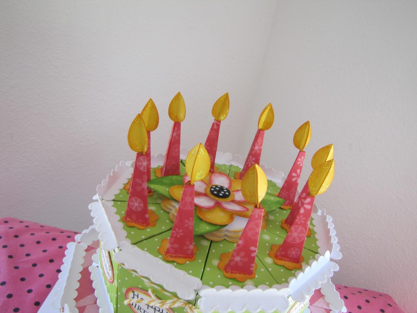 Свечи на торте из бумаги
