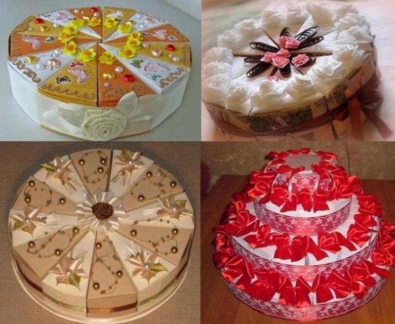 Варианты тортов из бумаги