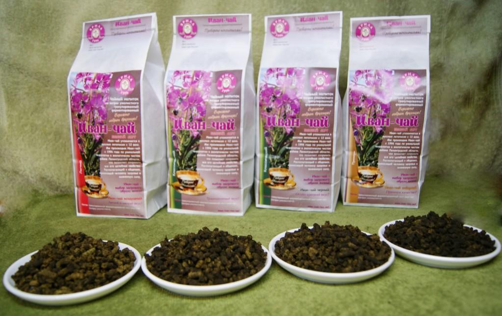 Готовые чаи в пакетиках с добавлением кипрея