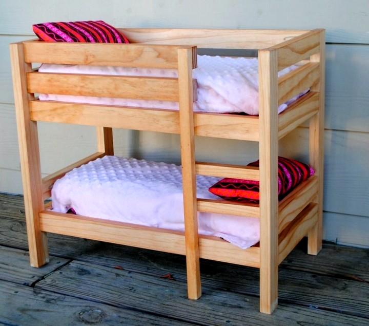 Как сделать двухъярусную кровать своими руками из бруса 20
