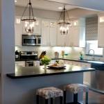 Дизайн потолка на кухне (13)