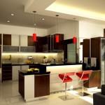 Дизайн потолка на кухне (17)