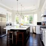 Дизайн потолка на кухне (19)