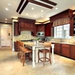 Дизайн потолка на кухне (20